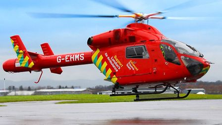 Air Ambulance crews landed in Highbury Grove School following the stabbing. Picture: Dan Smith