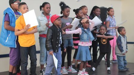 Young residents perform at the fun day