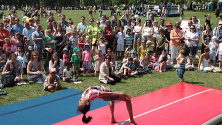Gymnastics at last year's sports day Pic: Ruth Corney