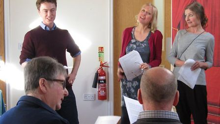 Actors from theatre company INK visited the Wellbeing Day Centre in Oulton Broad as part of their Go