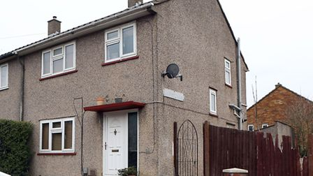 Paul Foster was shot dead near this house in Luton (pic credit/PA News)