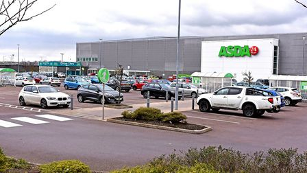The Asda store in Lowestoft, where 48 car parking spaces will be lost to make way for the new drive-