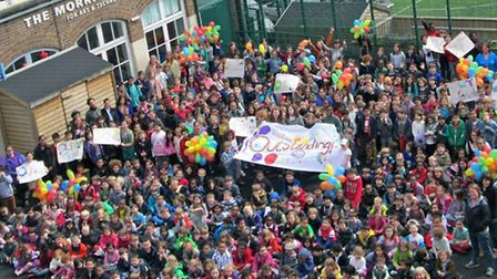 William Tyndale Primary School celebrates its outstanding Ofsted verdict in style