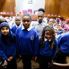 Chalkhill School pupils watch a citizenship ceremony at Brent Town Hall