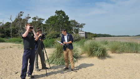 Volunteer wardens keep an eye on the little terns at Benacre Broad, which is a protected nesting are