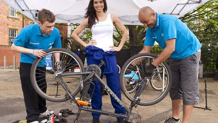Christine Bleakley at the launch of the Barclays Bike clinics in Chelsea