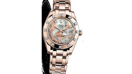 Thieves stole a £30,000 Rolex watch similar to this one