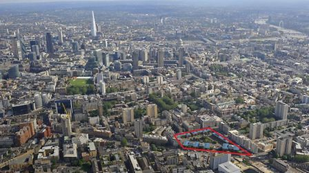 Where the site lies in relation to the rest of London
