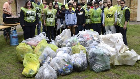 Lots of rubbish during the litter pick
