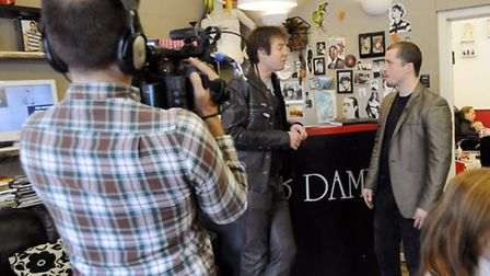 Paul Federici, owner of Chaps and Dames, is interviewed by Kate Middleton's stylist Richard Ward for