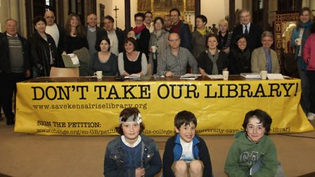 Members of the Friends of Kensal Rise Library Campaign held a public meeting last night