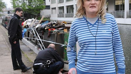 Tracey Corkish with the crutch that helped save a man's life Pic: Dieter Perry
