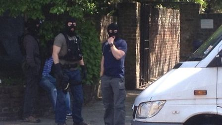 Armed police captured by one Twitter user following an arrest in St Paul's Road