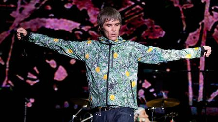 Ian Brown performing with The Stone Roses at V Festival last year. Picture: PA/Ryan Phillips.