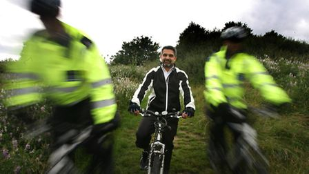 Cllr Muhammed Butt, Brent Council leader, centre, at one of last year's Sky Ride