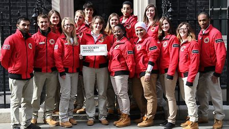 City Year volunteers went to Downing Street to collect their Big Society Award