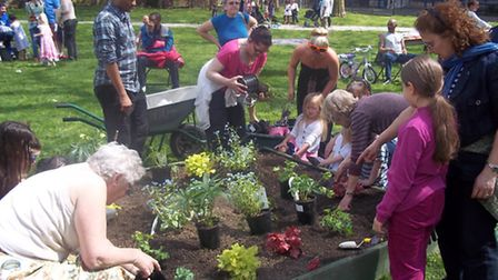 """PLANTING: Residents from the Bemerton Estate kicked off their """"engage"""" project"""