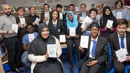 The launch of The Gods Amongst Us at St Augustine's High School