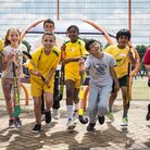 Young kids from Brent enjoyed a sport days with help from Kingsbury High School pupils (credit - Ste