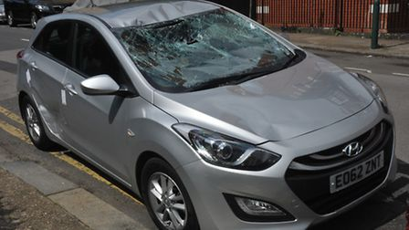 This car was found abandoned in Malvern Place, Kilburn