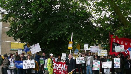 Staff took industrial action against academy conversion plans for Copland Community School