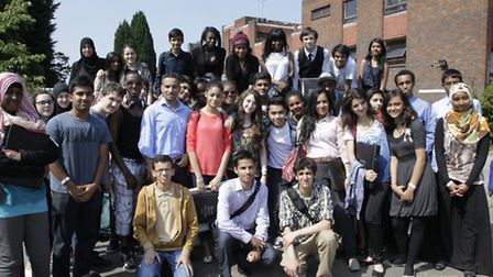 Brent students on their return from Eton (picture: Jan Nevill)