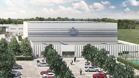 An artist's impression of the new QPR training facility