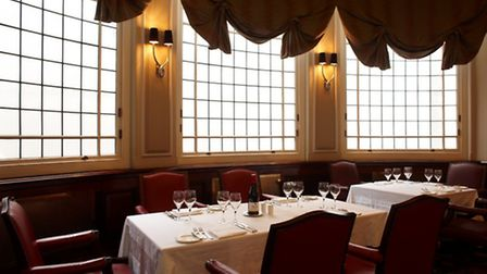The dining room at the London Capital Club