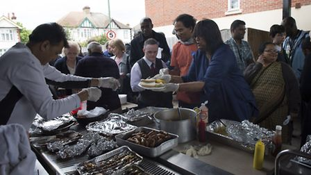 Members of a The New Millennium Day Centre enjoyed a barbeque