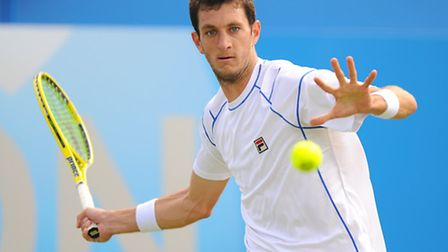 James Ward in action at The Queen's Club.