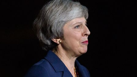 Prime Minister Theresa May makes a statement outside 10 Downing Street. Photograph: Matt Crossick/ EMPICS Entertainment.