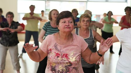 A keep fit class at Chalkhill Community Centre