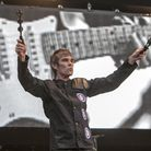 Ian Brown from the Stone Roses performs at Finsbury Park, London.