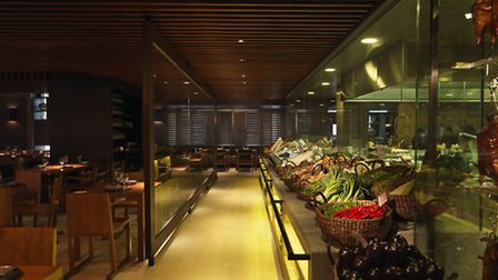 The fresh fish and vegetable market is a nice touch