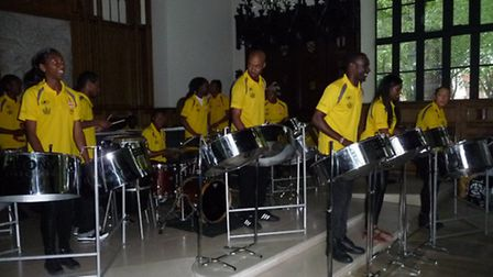 Ebony Steel Band showed their support to the Hoffman Foundation for Autism