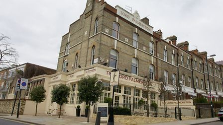 The exterior of The Lord Palmerston in Dartmouth Park Hill