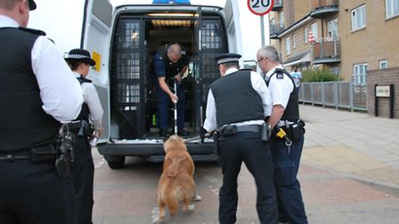 Brent Police have seized a dog that bit an officer in Dixon Way