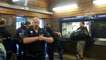 Immigration officers carried out an operation at Kensal Green station this morning (pic credit: Phil