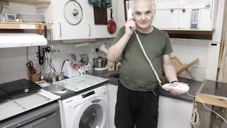 John Burslem, 64, waited three-and-a half-hours on the phone trying to buy visitor parking permits