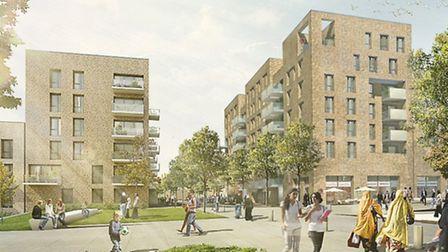 How the West Hendon housing estate on the reservoir could look