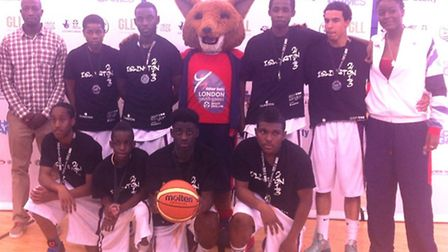 Islington's boys' basketball team, who won silver medals at the London Youth Games