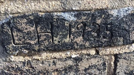 Do you recgonise these names and messages found on a chimney stack in Lowestoft? Picture: Clem Jones