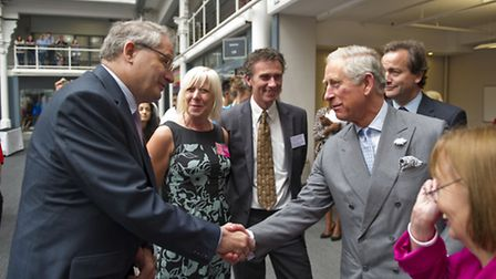 HRH The Prince of Wales meets Phil Corthorne the Islington Business Connector during BITC's The Big