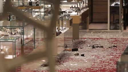 Scene of the smash and grab robbery in Selfridges