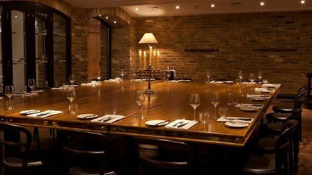 The communal dinner was held in the venue's oplulent Josephine Room