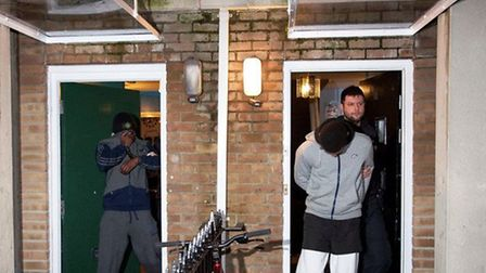 Officers raided homes in south Kilburn as part of Operation Grissino on January 23