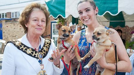 Cllr Frances Stainton, Mayor of Hammersmith and Fulham attended The Mayhew's annual open day event (