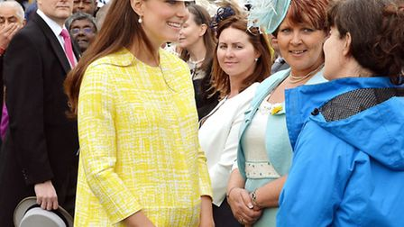 The Duchess of Cambridge attends a Garden Party in the grounds of Buckingham Palace, central London