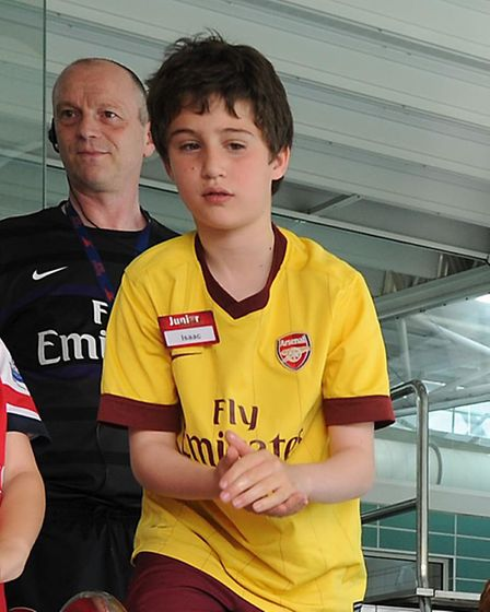 Isaac Healy camped out at the Gunners' training ground
