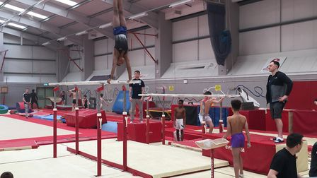 England's finest young gymnasts have been training at Waveney Gymnastics Club in Lowestoft. Picture: